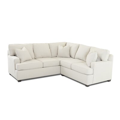 Edwina Sectional Orientation: Right Hand Facing, Upholstery: Conversation Truffle