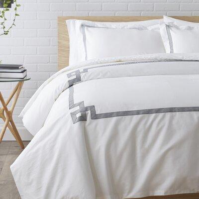 Plainpost 3 Piece Duvet Cover Set Size: Full / Queen, Color: Grey