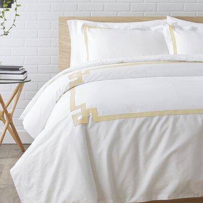 Plainpost 3 Piece Duvet Cover Set Size: King / California King, Color: Gold