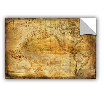 Vintage Map II Wall Mural Size: 12