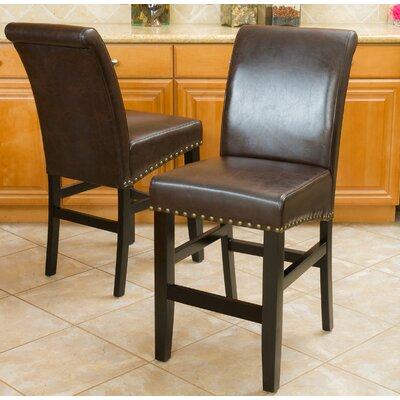 Shaws 25 Bar Stool Upholstery: Brown
