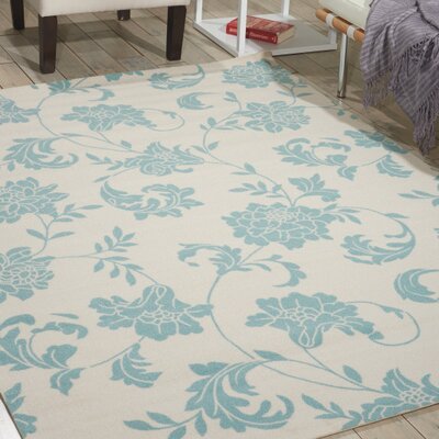 Sigel Blue/Ivory Indoor/Outdoor Area Rug