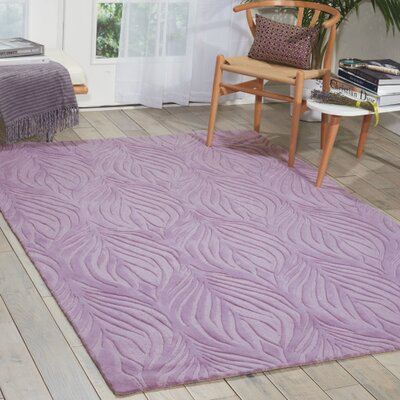 Williston Hand-Tufted Lavender Area Rug Rug Size: 5 x 76
