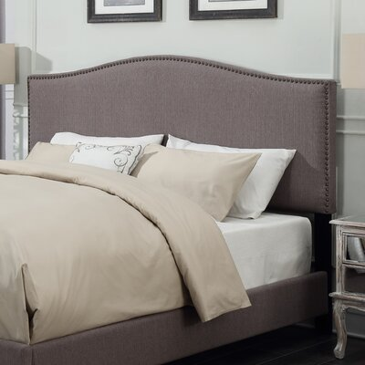 Blythewood Upholstered Panel Headboard Size: Full, Upholstery: Taupe