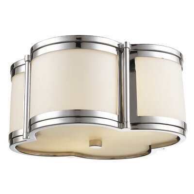 Alvina 2-Light Flush Mount Size: 6