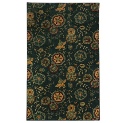 Sisson Green/Orange Area Rug Rug Size: Rectangle 5 x 8