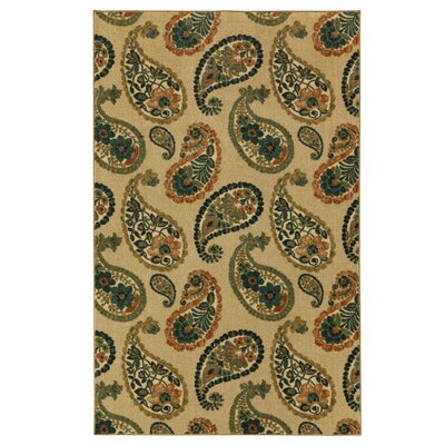 Sisson Cool Beige/Green Area Rug Rug Size: Rectangle 76 x 10