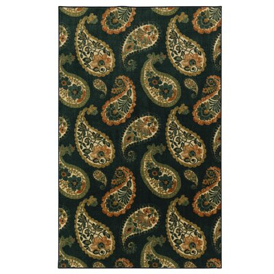 Sisson Navy/Green Area Rug Rug Size: Rectangle 76 x 10