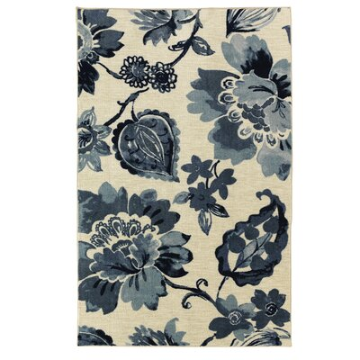 Sisson Navy Blue/Beige Area Rug Rug Size: Rectangle 76 x 10