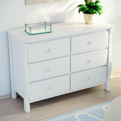 Herberta 6 Drawer Double Dresser Color: White