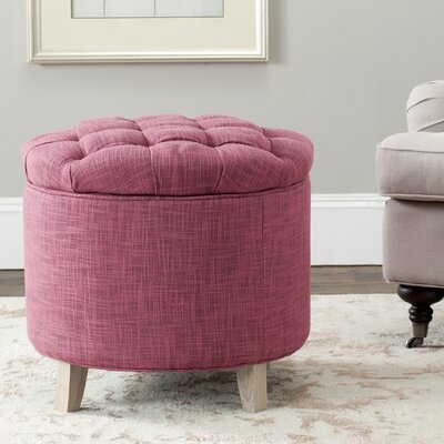 Castell Storage Ottoman Color: Rose