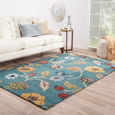 Silver Creek Hand-Woven Blue/Red Area Rug Rug Size: Runner 25 x 8