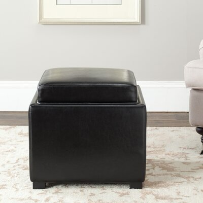 Reeves Ottoman Upholstery: Black