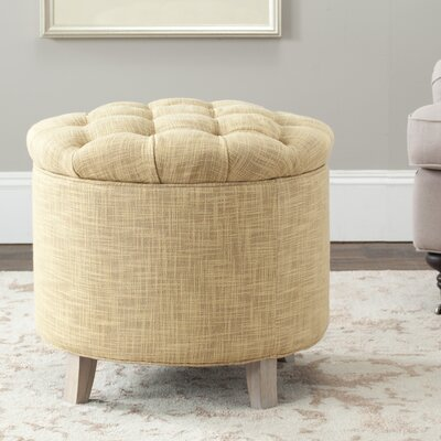Castell Storage Ottoman Color: Gold