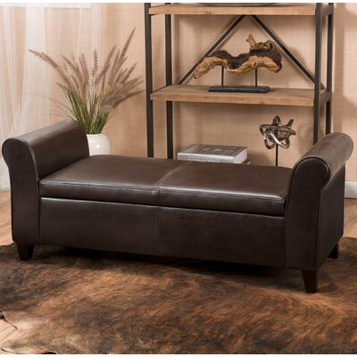 Varian Upholstered Storage Bedroom Bench Upholstery Color: Brown