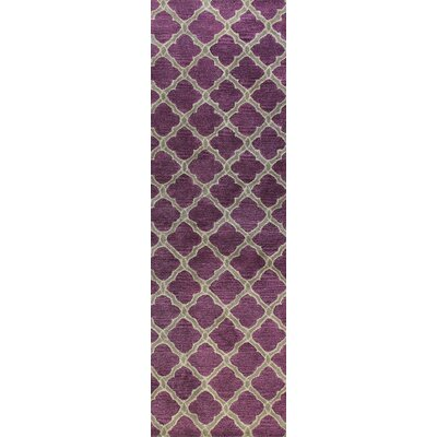 Hillside Hand-Tufted Lilac Area Rug Rug Size: Runner 26 x 8