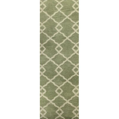 Hinsdale Hand-Tufted Light Green Area Rug Rug Size: Runner 26 x 8