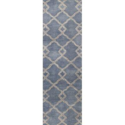 Hirsch Hand-Tufted Denim Area Rug Rug Size: Runner 26 x 8