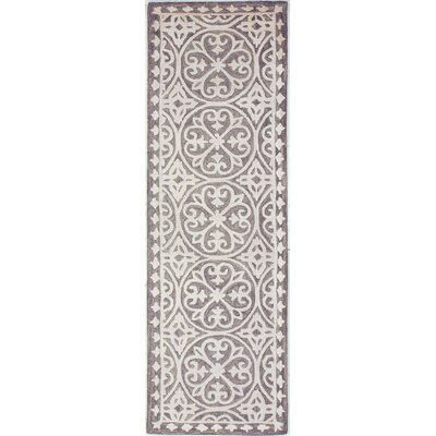 Dormont Hand-Tufted Gray Area Rug Rug Size: Runner 26 x 8