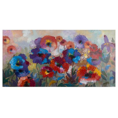 Flower Garden Painting on Wrapped Canvas
