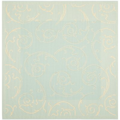 Bexton Aqua/Cream Indoor/Outdoor Rug Rug Size: Square 67