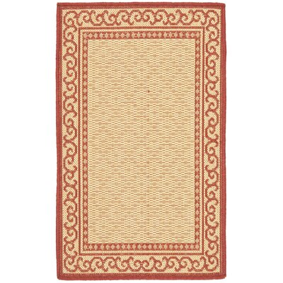 Bexton Oriental Red/Natural Indoor/Outdoor Area Rug