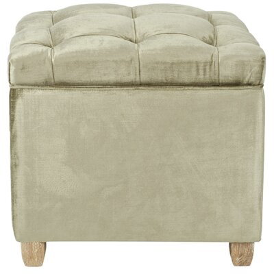 Eau Claire Storage Ottoman Upholstery: Antique Sage