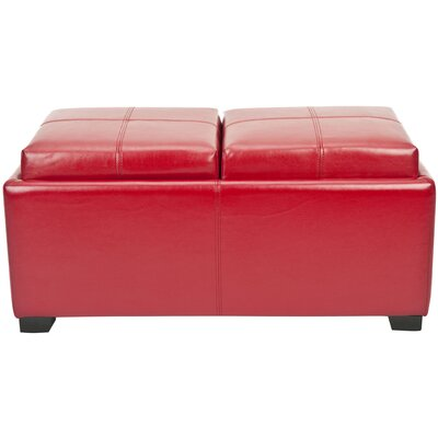 Dogwood Storage Ottoman Upholstery: Red