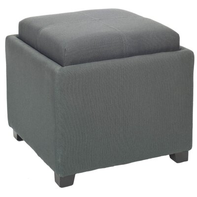 Dogwood Storage Ottoman Upholstery: Dark Grey