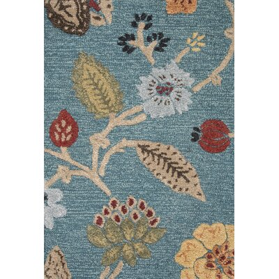 Silver Creek Blue/Red Floral Area Rug Rug Size: 2 x 3