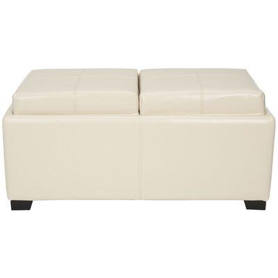 Dogwood Storage Ottoman Upholstery: Flat Cream