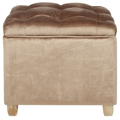 Eau Claire Ottoman Upholstery: Mink Brown