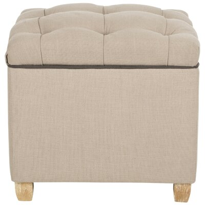 Eau Claire Storage Ottoman Upholstery: True Taupe