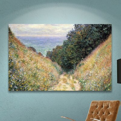 Footpath Framed Painting Print on Canvas Size: 24