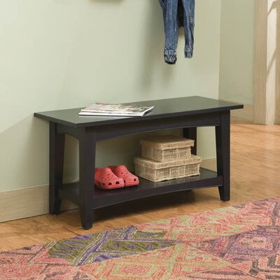 Bel Air Wood Storage Entryway Bench