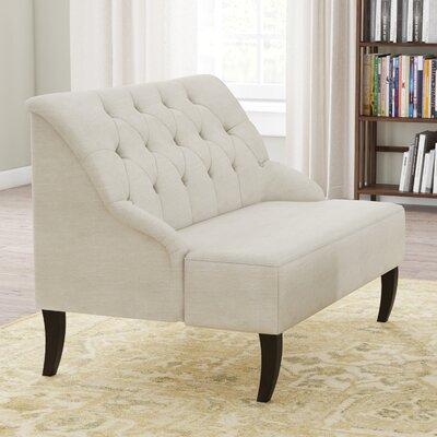 Goggans Settee Upholstery: Light Beige