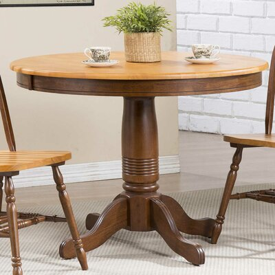 Clyde Round Dining Table Finish: Fruitwood