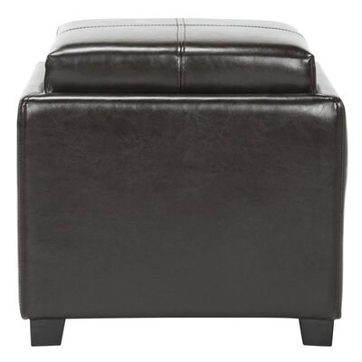 Dogwood StorageTray Leather Ottoman Upholstery: Brown