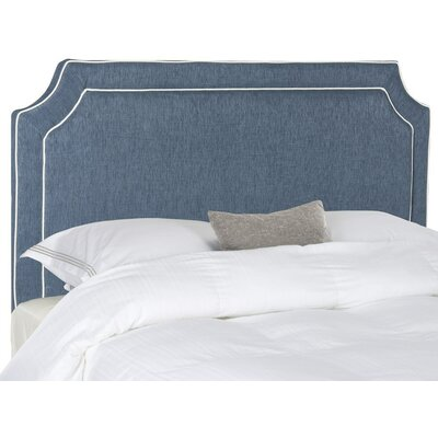 Cloverdale Upholstered Panel Headboard Size: Queen, Upholstery: Navy