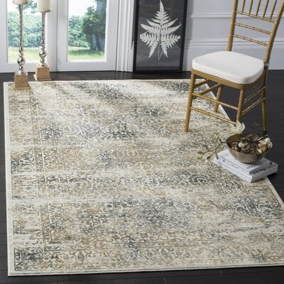 Van Andel Silver/Anthracite Area Rug Rug Size: Rectangle 4 x 6