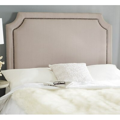 Laurie Upholstered Panel Headboard Size: Full, Color: Taupe, Upholstery: Linen