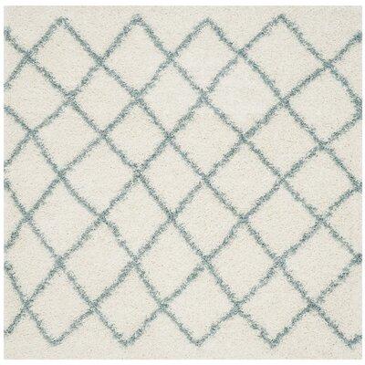 Laurelville Ivory / Seafoam Area Rug Rug Size: Square 6'