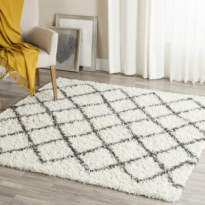 Laurelville Ivory / Dark Gray Area Rug Rug Size: Rectangle 3 x 5