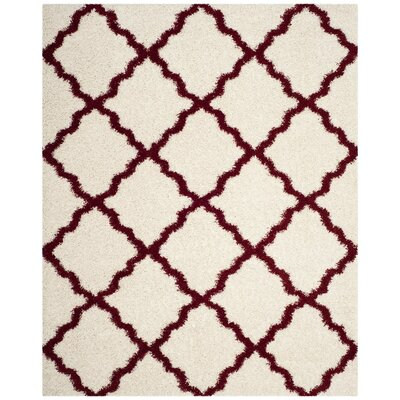 Brentwood Beige/Red Area Rug Rug Size: 8 x 10