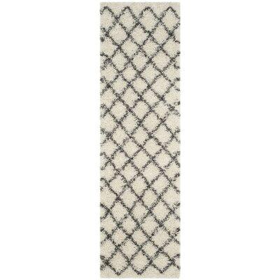 Laurelville Ivory / Dark Gray Area Rug Rug Size: Runner 23 x 8