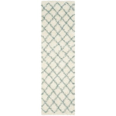 Laurelville Ivory / Seafoam Area Rug Rug Size: Runner 23 x 8