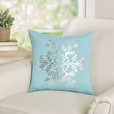 Mifflin Cotton Throw Pillow Color: Sage / Silver