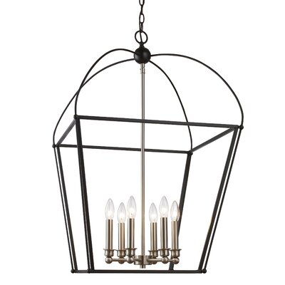 Gladding 6-Light Foyer Pendant Finish: Black/Brushed Nickel