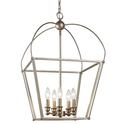 Gladding 5-Light Foyer Pendant Finish: Antique Silver Leaf