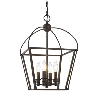 Gladding 4-Light Foyer Pendant Finish: Oil Rubbed Bronze